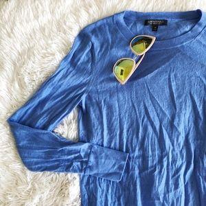 BANANA REPUBLIC blue merino wool crew neck sweater